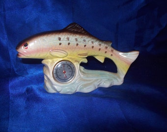 Porcelain Trout Luster Coloured Glaze with a Thermometer