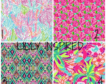 Lilly Pulitzer,Printed Vinyl, Patterned Vinyl, HTV Prints, Vinyl Prints, Heat Transfer VInyl, 651, Vinyl Sheets, Glitter Heat Transfer Vinyl