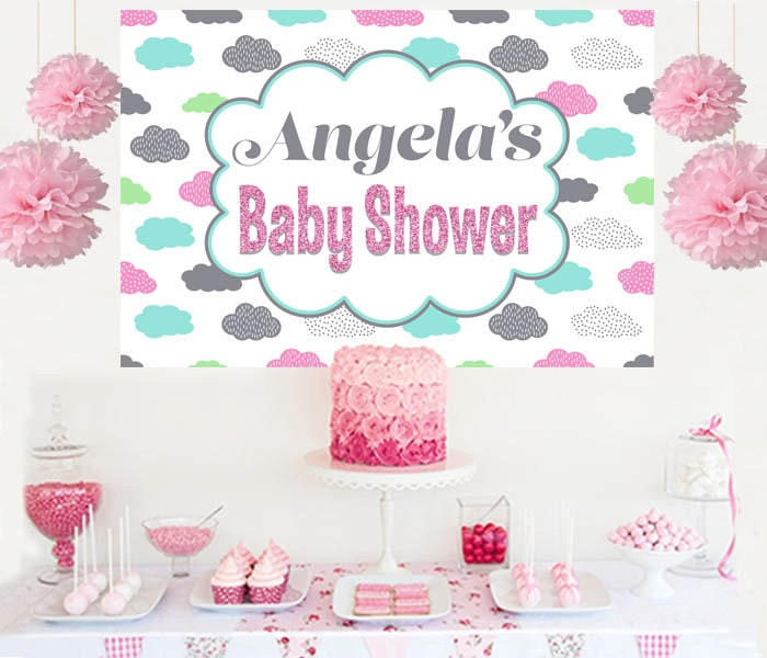 baby shower cake table backdrop baby girl photo backdrop