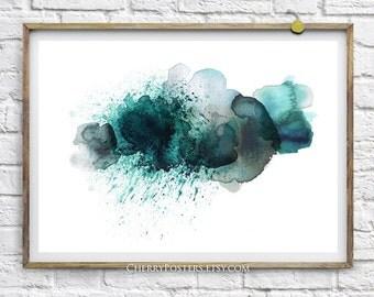 Storm Cloud - Watercolor Print - Home decor wall art, watercolor painting, watercolor art, cloud rain, watercolor storm cloud, cloud poster.