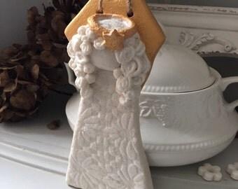Art/Figurines/Angel/Gift/Handmade/Decoration/Home Decor/Salt Dough/Salt Dough Ornament/Hanging/ Gift/Birthday Gift/Anniwersary Gift