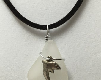 Dolphin Sea Glass Necklace