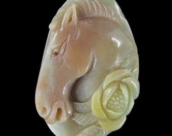 Carved Horse Pendant Bead 10 % off coupon BLACKNOVEMBER