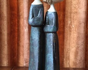 Lladro Nuns Monjas sculpted by Fulgencio Garcia