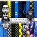 30% OFF SALE Star Wars digital paper, clipart,scrapbook,Star wars background,texture,printable party SW001