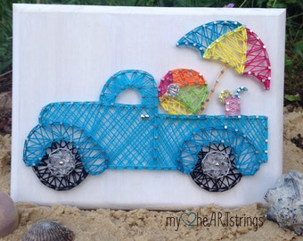 Summer lovin' string art truck