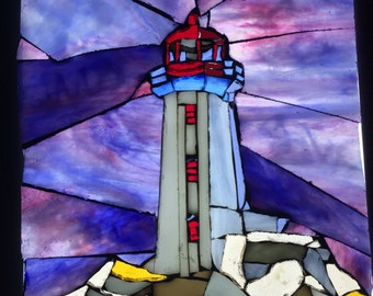 Lighthouse Stained Glass Mosaic