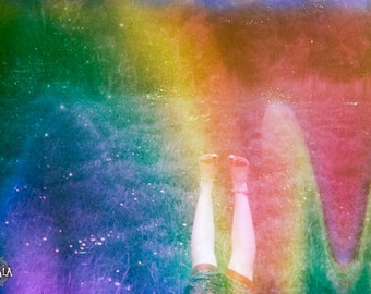 Summer Dust Psychedelic 35mm film Analog Colorful Dreamy Nature Photo Print