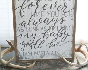I'll Love You Forever- Custom Nursery Sign