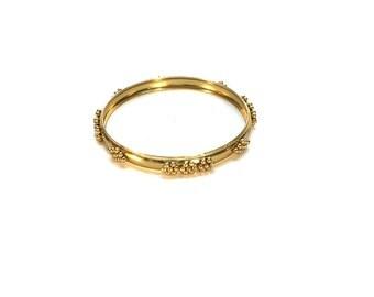 Gold Beaded Bangle Bracelet