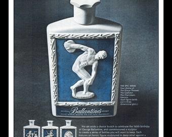 "Vintage Print Ad October 1962 : Ballantine's Scotch Whisky The Epic Series Liquor Wall Art Decor 8.5"" x 11"" Advertisement"