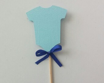 Baby Boy Shower / Baby Shower / Baby Shower Cupcake Toppers