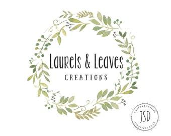 Logo Designs-Laurel Logo-Wreath Logo- Business Branding
