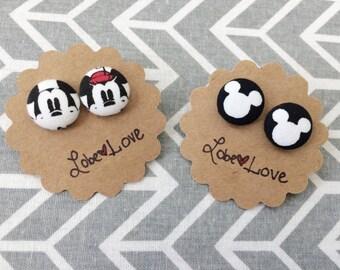 Disney Fabric Earrings Set