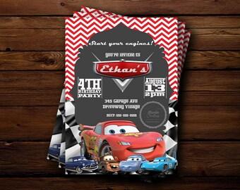Disney's Cars Birthday Invitation