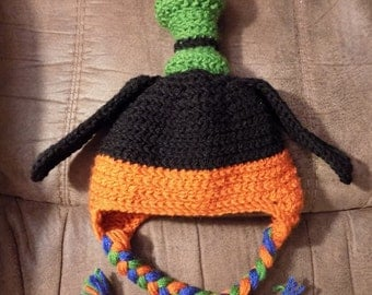 Goofy Inspired Crochet Hat