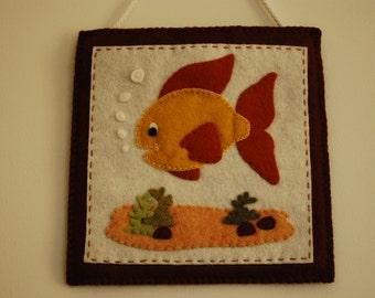 Felt Fish Hanging, Felt Fish Decoration, Fish Decoration, Felt Fish