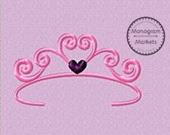 Princess Crown Embroidery File - Small