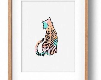 Okay Luna 'Baby Tiger' Print A4