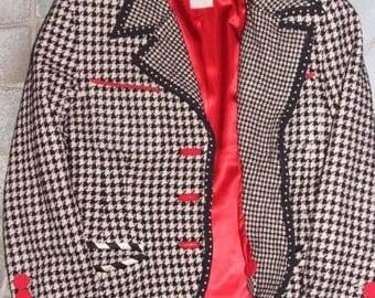 LOLITA LEMPICKA Paris Made in France Authentic Vintage Jacket / Lolita Lempicka French Designer Vintage c.1980s Silk Wool Jacket