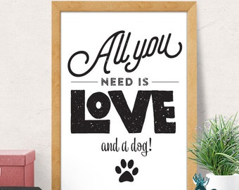 Dog print, Dog quote wall decor, Nursery wall decor, Pet print, Puppy print, Puppy Nursery decor, Nursery wall art, Puppy wall decor