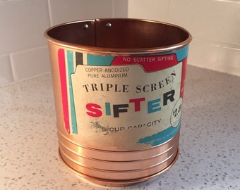 Copper Anodized Aluminum Sifter