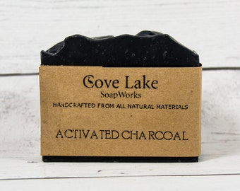 Activated Charcoal Soap.  All Natural Handmade Cold Process Soap.
