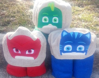 Masked Heros Inspired Hooded Towels with FREE Embroidered Name