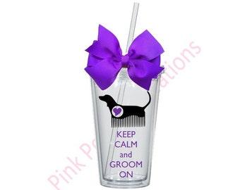 Keep Calm and Groom On, Dog Groomer Gift, Dog Groomer