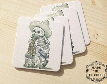 Day of the Dead Coasters - Set of 4 [Dia de Los Muertos]