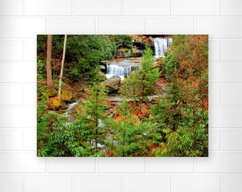 Woodland Waterfall - Photo Print - Landscape Art - Scenic Wall Art - Waterfall Photography - Landscape Photography - Home Decor - Art Print