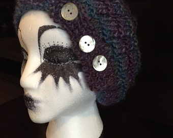 1920's retro flapper style knitted cap