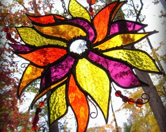 Autumn Whimsy- Stained Glass Suncatcher/Ornament