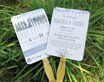 Wedding Program Fan Rustic Beach Destination Country Travel Ceremony