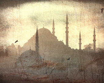 Old days, Istanbul city, landscape