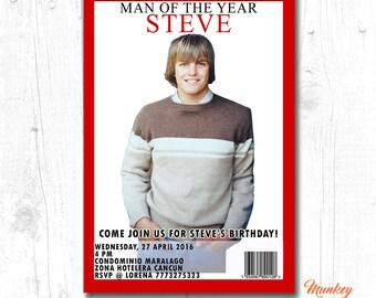 40th birthday invitations for men, 30th birthday surprise invitations, adult birthday party invitations, 30th birthday for him