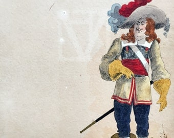 17th century French soldier (antique painting)