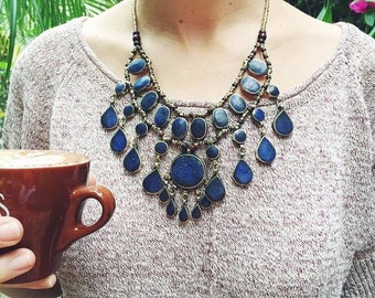 Boho Necklace Boho Coin Necklace Coin Statement Necklace Boho Jewelry Gypsy Necklace,Tribal Necklace,Afgan Necklace