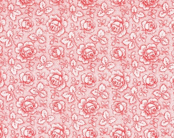 Design Grandmothers Roses Red-White - European Fabric