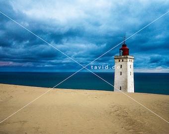 RUBJERG KNUDE FYR Poster Dänemark Leuchtturm bis 180x120cm Poster. Rubjerg Knude Fyr Dänemark Leuchtturm der bald im Meer versinkt
