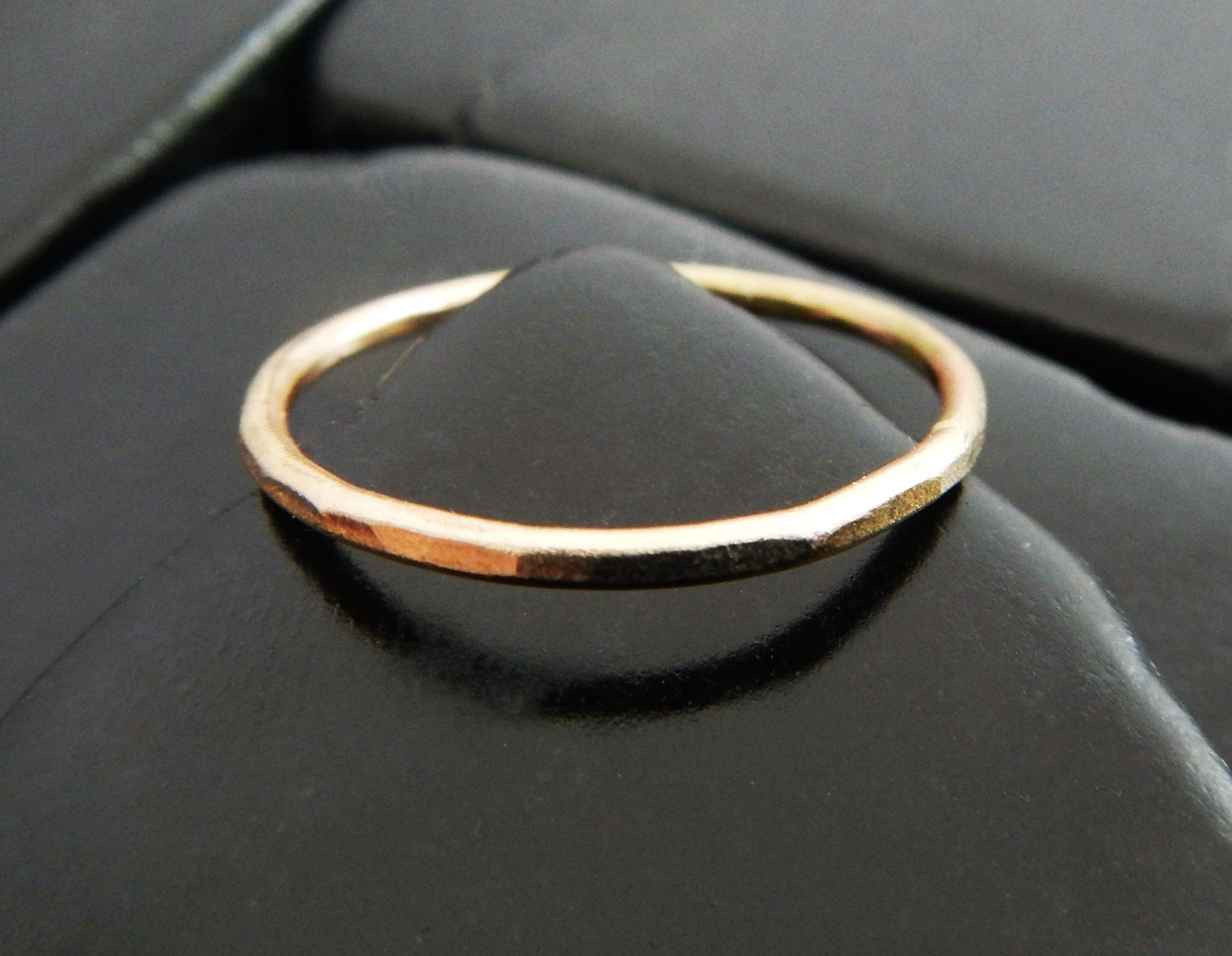 yellow gold band simple gold ring gold stacking ring