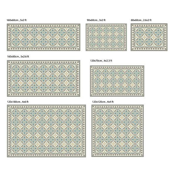 Pvc vinile mat piastrelle pattern decorativi tappeto linoleum for Mattonelle in vinile