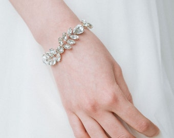 Wedding Bracelet, Teardrop Crystal Bracelet, Shiny Crystal Bracelet, Bridal Bracelet, Clear Crystal Bracelet, Rhinestones Bracelet