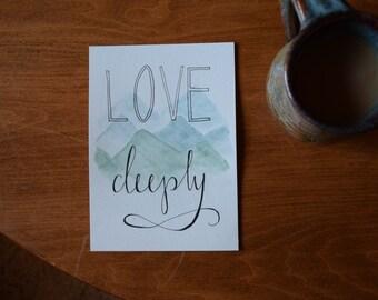 Love Deeply Print
