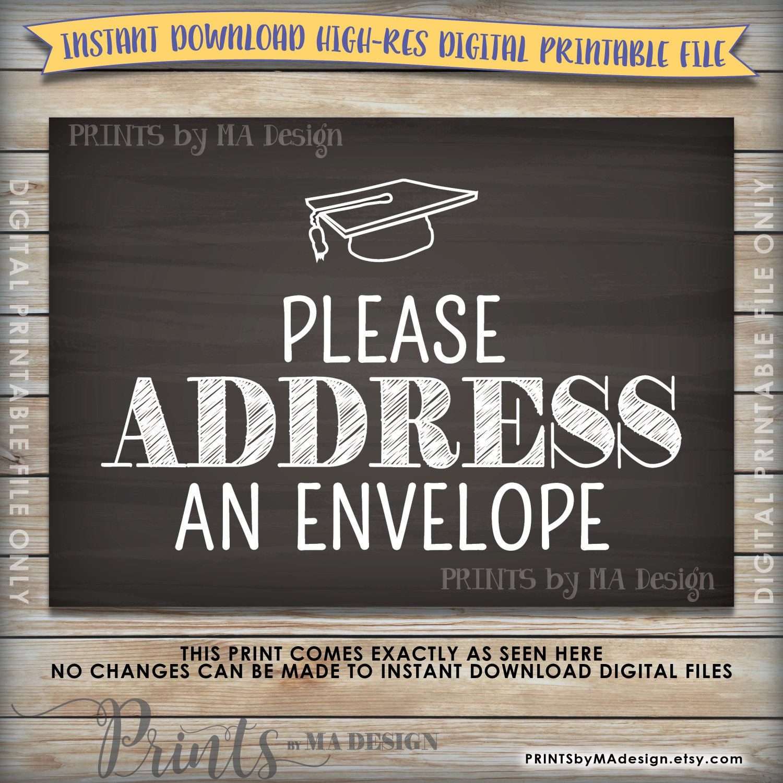 address envelope sign graduation party sign address your