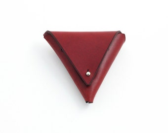 Burgundy Leather Coin Purse