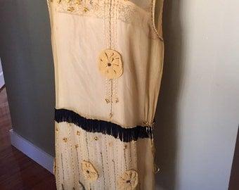 1920's Silk Flapper Dress