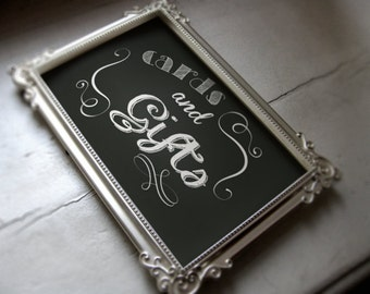 Cards and gifts sign -instant download-PDF file