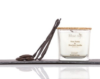 Bourbon vanilla, soy candle and tonka bean