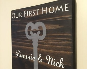 First Home Sign - Our First Home - New Home Owners Gift -